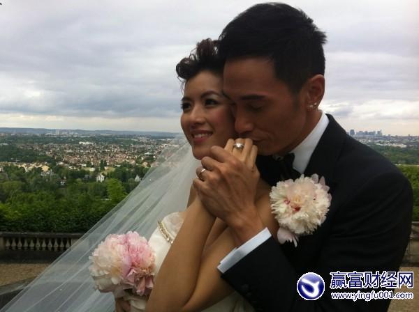 陈豪掷320万巴黎娶妻 陈茵��腹部微隆孕味浓