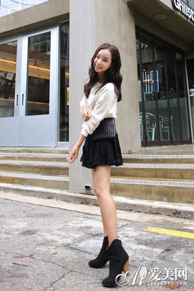 新潮复古蕾丝半身裙 优雅有格调