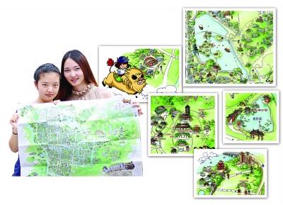 90后路痴美女出品南京手绘地图