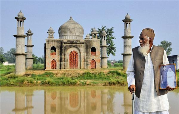 印度80岁老人悼亡妻建缩小版泰姬陵